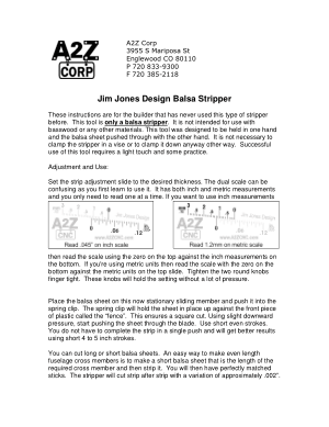 A2Z CNC Jim Jones Design Balsa Stripper