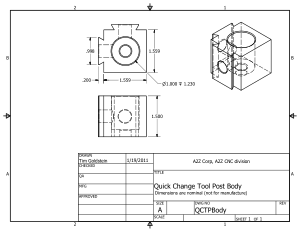 A2Z CNC Quick Change Tool Post Body