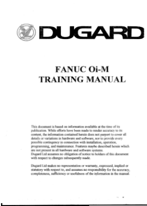 DUGARD Fanuc 0i-M Programming Manual
