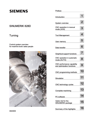 Sinumerik 828D Turning Overview Manual