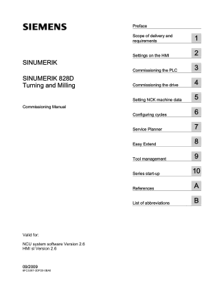 Sinumerik 828D Commissioning Manual