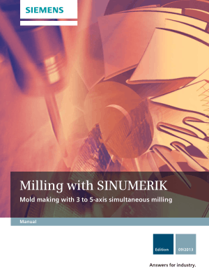 Sinumerik 840D Mold Making 3 to 5-axis Milling Manual