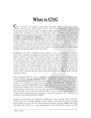 What is CNC