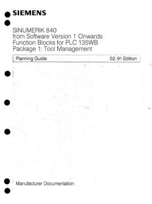 SINUMERIK 840 Tool Management