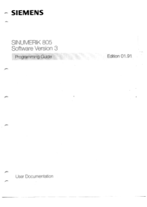 SINUMERIK 805 Programming Guide