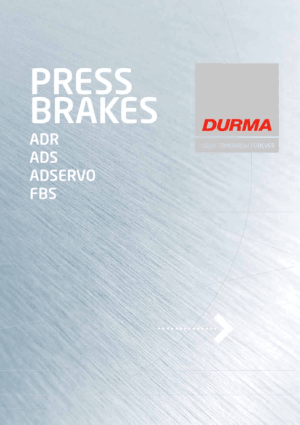 Durma Press Brakes AD-R Series AD-S Series