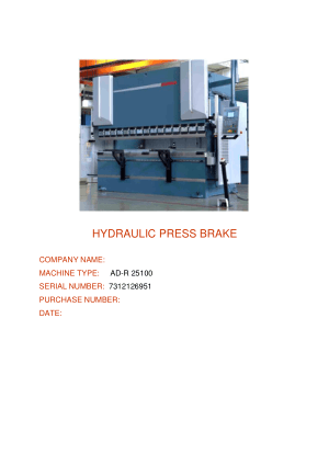 Durma AD-R Series Press Brake User Manual