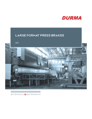 Durma LARGE FORMAT PRESS BRAKES