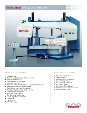 Durma DCB-DM SERIES DUAL COLUMN BAND SAWS