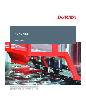 Durma PUNCHES MULTI-P SERIES