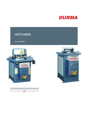 Durma NOTCHERS FN & VN SERIES
