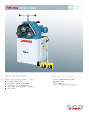 Durma PBM SERIES PROFILE BENDING