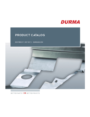 DURMA PRODUCT CATALOG