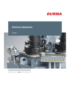 DURMA PROFILE BENDING