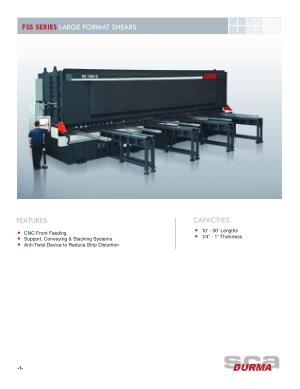 Durma FSS SERIES LARGE FORMAT SHEARS