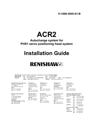Renishaw ACR2 Installation Guide