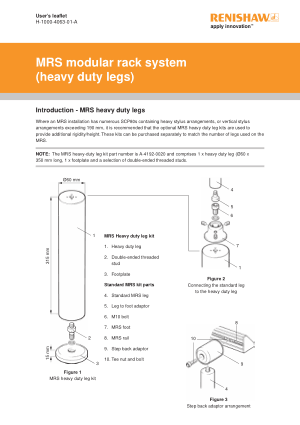 Renishaw MRS modular rack system User leaflet
