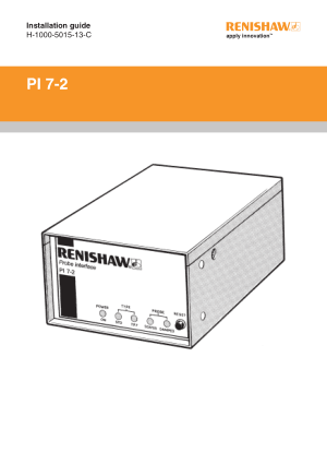 Renishaw PI 7-2 Installation guide