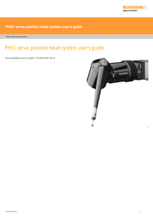 Renishaw PHS1 servo position head system users guide