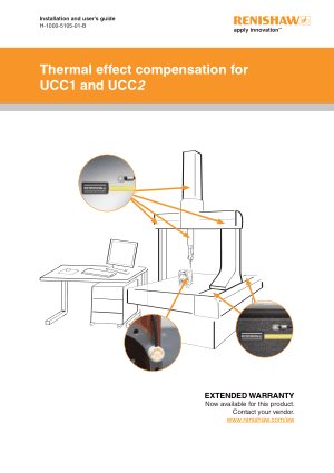 Renishaw Thermal effect compensation for UCC1 and UCC2