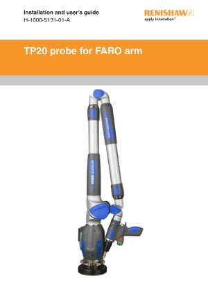 Renishaw TP20 probe for FARO arm Installation Guide