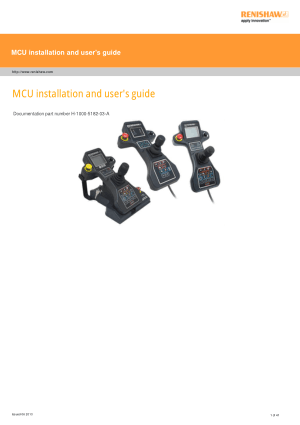 Renishaw MCU installation and users guide