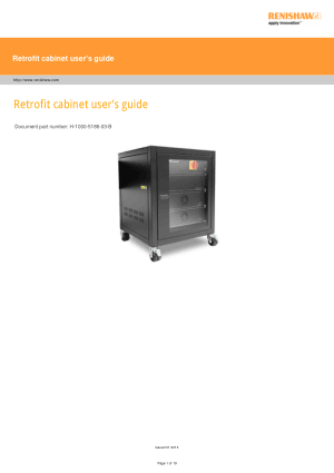 Renishaw Retrofit cabinet users guide