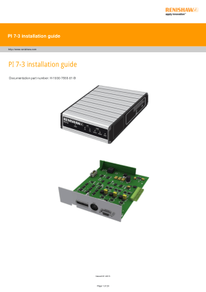 Renishaw PI 7-3 installation guide