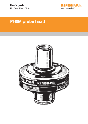 Renishaw PH6M probe head User's guide