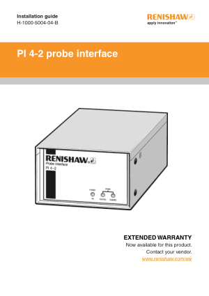 Renishaw PI 4-2 probe interface Installation guide