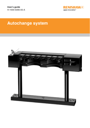 Renishaw Autochange system User's Guide