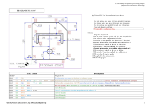 CNC Programs For Practice