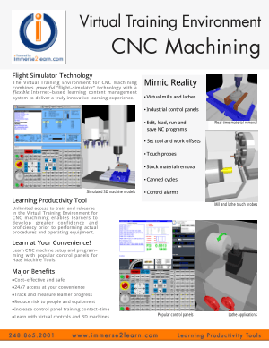 CNC Machining Virtual Training Environment