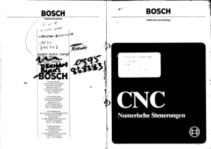 Bosch CNC Alpha 2 Operating Instructions