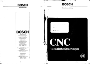 Bosch CNC Alpha 3 Operating Instructions
