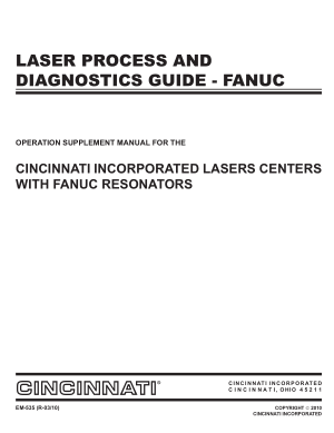Cincinnati Laser Process And Diagnostics Guide – Fanuc