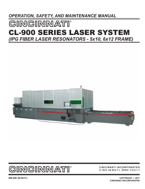 Cincinnati CL-900 Laser Operation Maintenance Manual