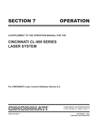 Cincinnati CL-900 Laser Operation