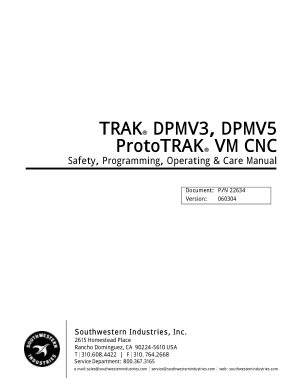 ProtoTRAK VM CNC Programming Manual