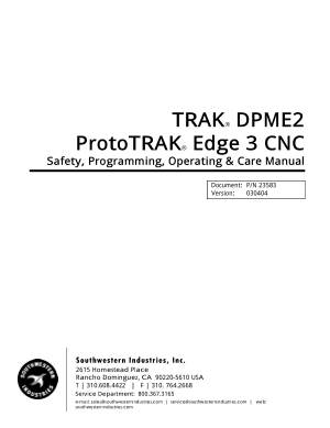 ProtoTRAK Edge 3 CNC Programming Manual