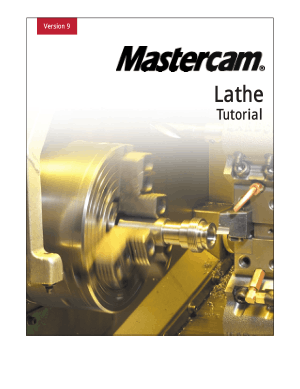 Download PDF Mastercam Lathe Tutorial Version 9 - CNC Manual