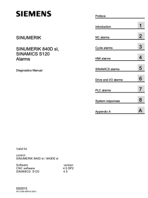 Sinumerik 840D Alarms Diagnostics Manual