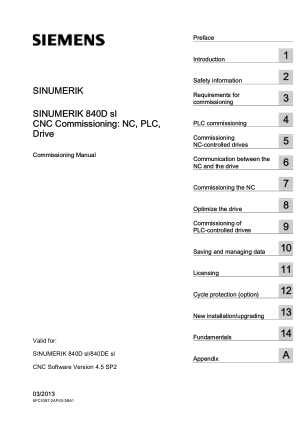 Sinumerik 840D Commissioning Manual