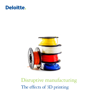 Disruptive Manufacturing the Effects of 3D printing