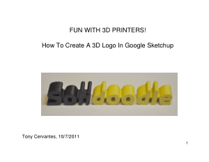 How To Create A 3D Logo In Google Sketchup