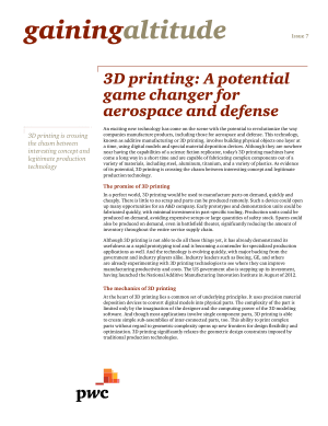 3D Printing in  Aerospace and Defense
