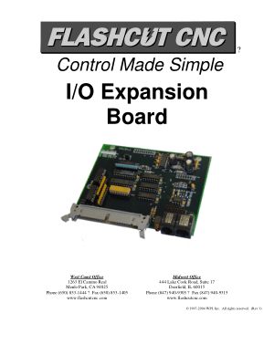 FlashCut CNC I/O Expansion Board Manual
