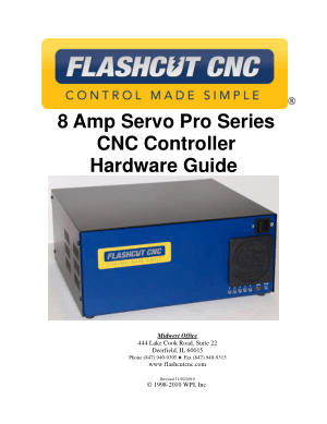 Flashcut CNC Pro Series Servo Controller Manual