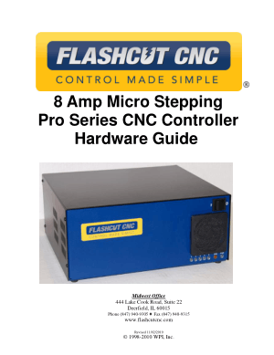 FlashCut CNC Micro Stepping Pro Series Controller Manual