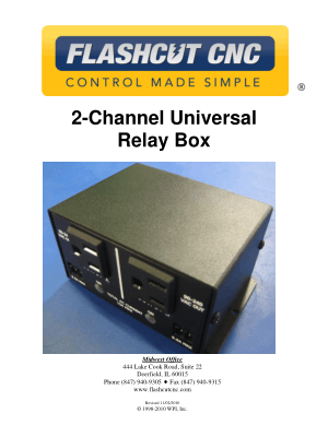 FlashCut CNC Relay Box Manual